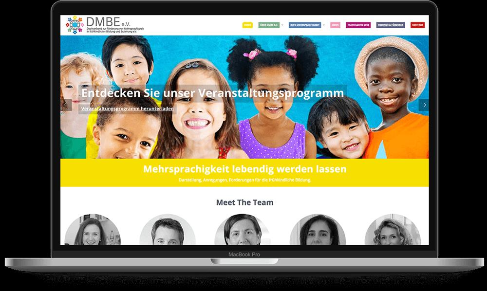 DMBE e.V. WordPress Website - Voll Webdesign & SEO