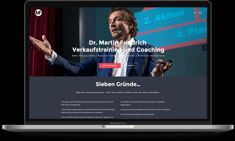 Dr. Martin Friedrich Verkaufstraining und Coaching - Voll Webdesign & SEO